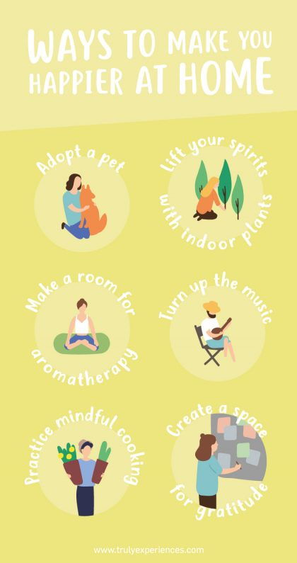 Ways to feel happier at home