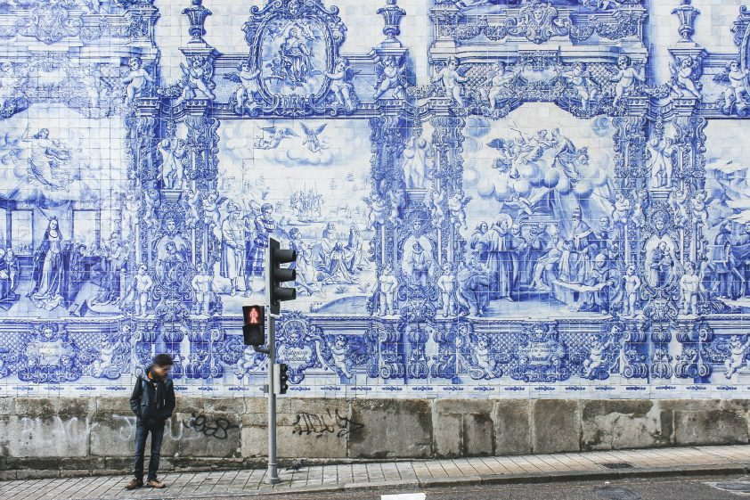 Hand-painted tiles of Porto