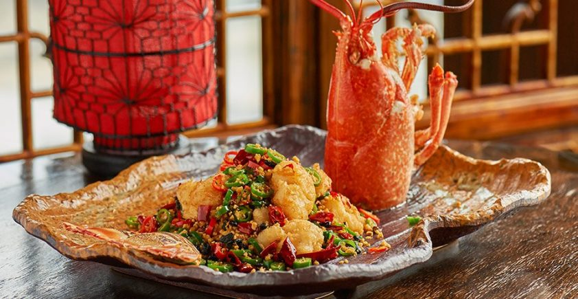 Sichuan-style deep fried lobster