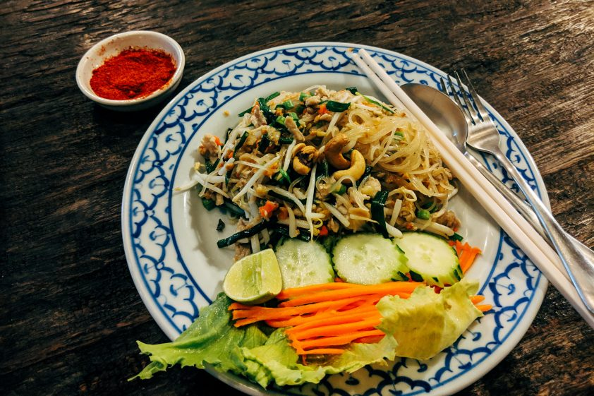 Pad Thai noodles in Thailand