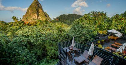 View overlooking Boucan cocoa plantation