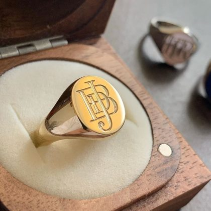Gold Signet Ring for him