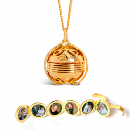 Golden photo locket