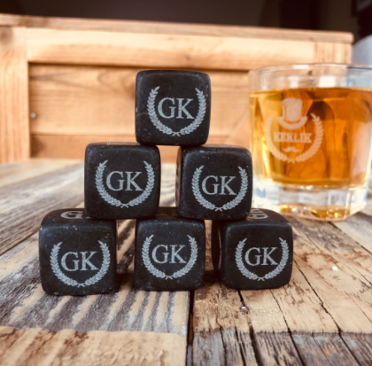 Personalized whisky stones birthday gift for him