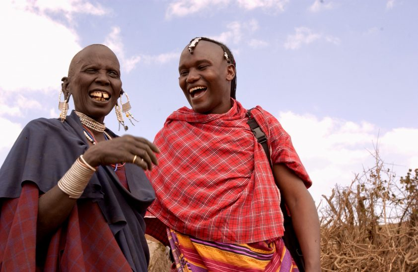Two smiling Maasai