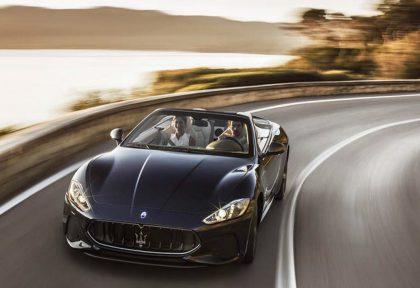 Maserati GranCabrio along Amalfi Coast