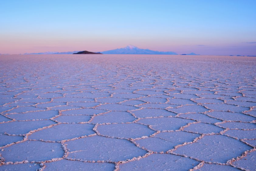 Sunrise in Uyuni Salt Flat, Bolivia