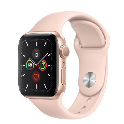Gold Sport Pink Apple Watch Series 5 Smartwatch