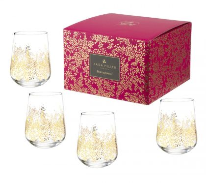 Chelsea Gold Leaf Stemless Wine Glasses