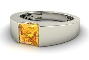 Citrine ring for him