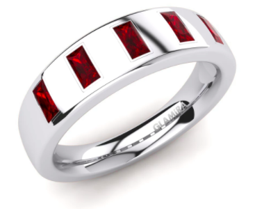 Ruby Ring Anniversary Gift for Him