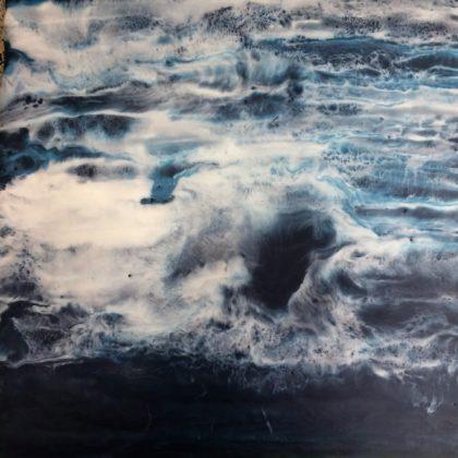 The Deep encaustic painting Isabelle Gaborit