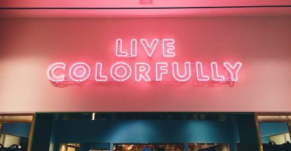 Live Colorfully pink neon sign