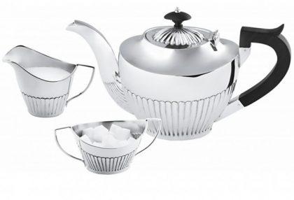 Sterling Silver Queen Anne Three Piece Tea Set