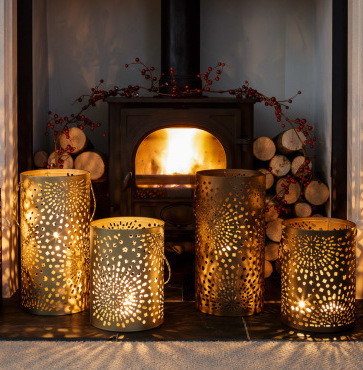 Bronze Moroccan candle holder