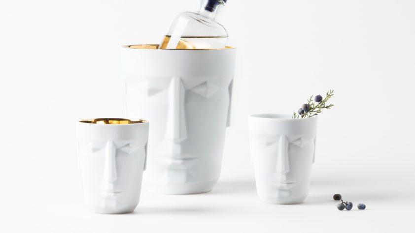 Prometheus porcelain barware