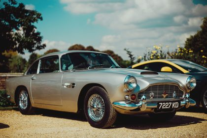Silver Aston Martin DB5