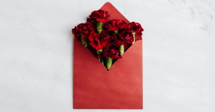Love letter of carnations for 17th anniversary