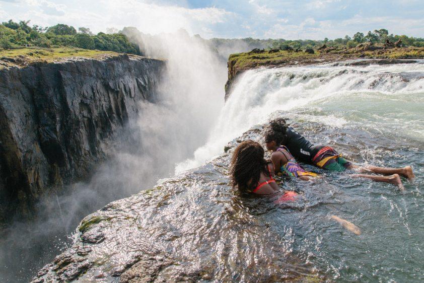 Swimming at Victoria Falls