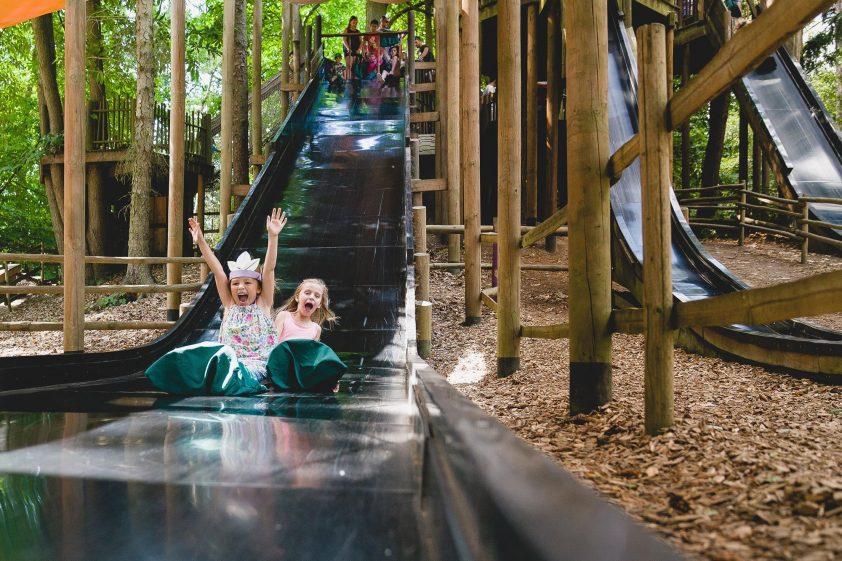 Kids having fun at Bewilderwood