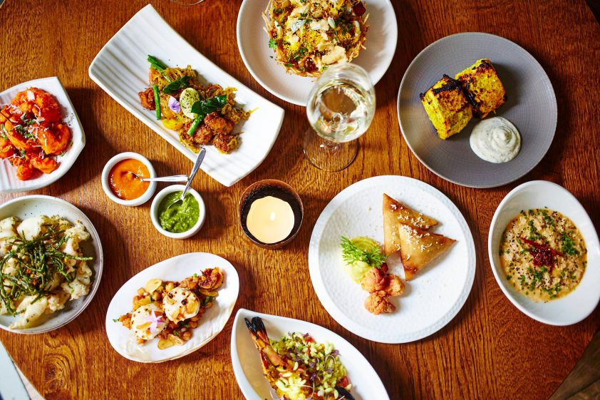Indian food at Trishna, London