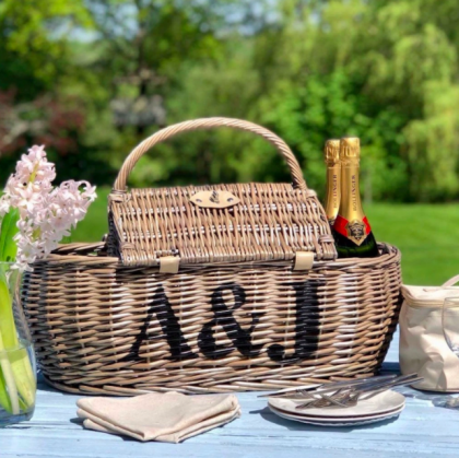 personalized willow basket