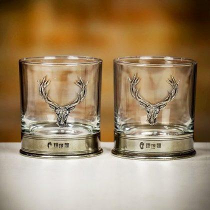 Stag whisky glasses