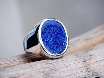 Lapis Lazuli signet ring for him