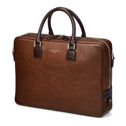 Aspinal of London leather briefcase
