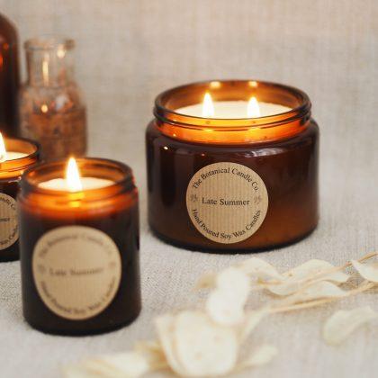 Botanical candle soy candles