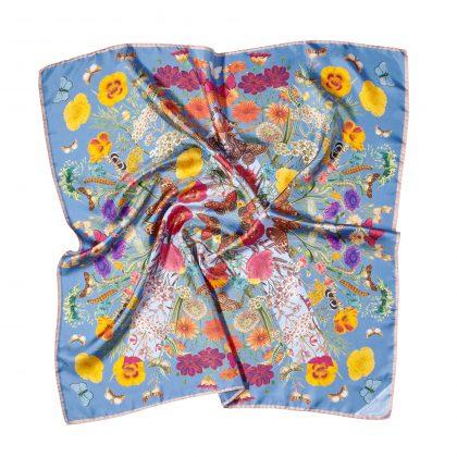 Botanical silk scarf