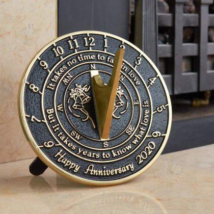 Brass anniversary sundial gift