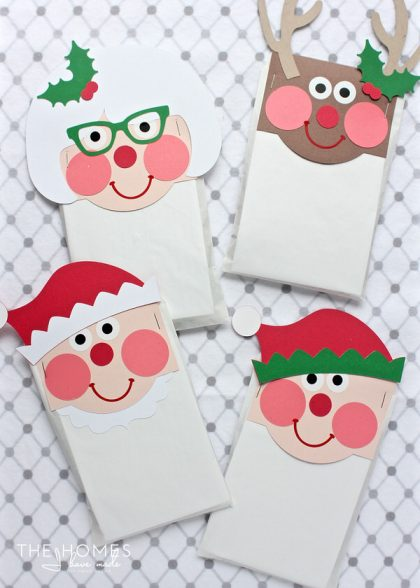 Christmas Characters Treat Bag Toppers