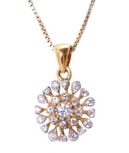 Rakam Jewellery's classic diamond pendant
