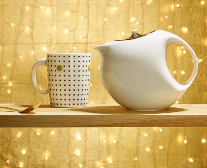 Bulle Platinum Teapot 60th Anniversary Gift for Her