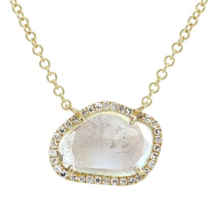Diamond Slice Necklace In 14K Yellow Gold Dream