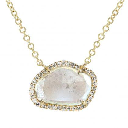 Diamond Slice Necklace In 14K Yellow Gold Dream