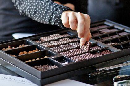 Chocolate tasting at Hotel Chocolat London