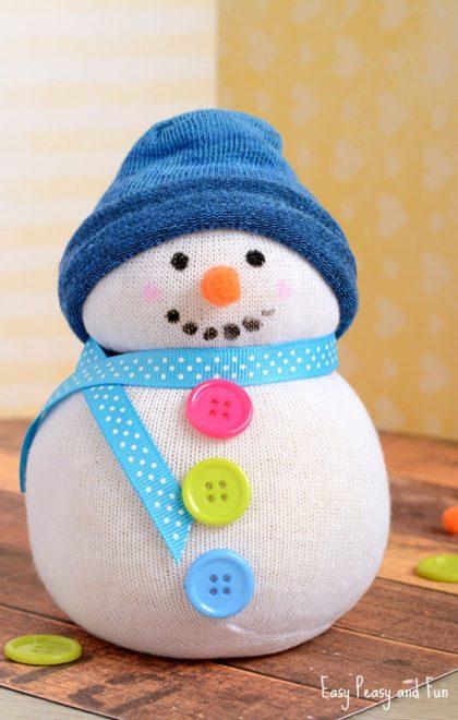 No Sew Sock Snowman