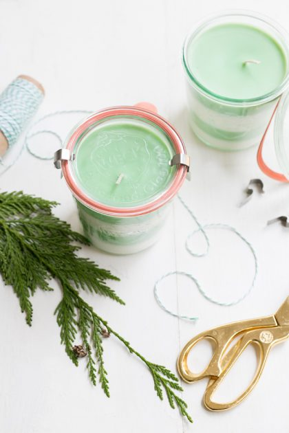 DIY Pine Soy Candles
