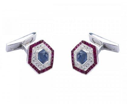 Ruby & diamond cufflinks