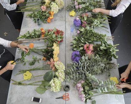 Flower arranging masterclass McQueens