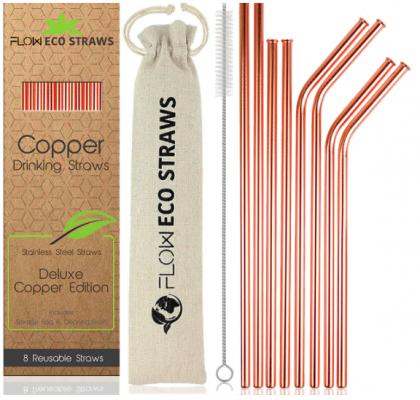 Copper Metal Drinking Straws