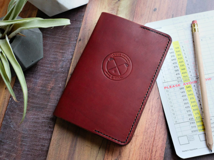 Hide & Home Italian Leather Golf Scorecard Holder