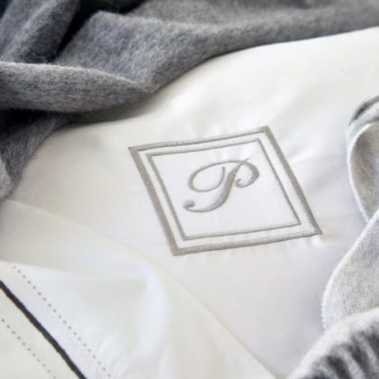 Monogrammed luxurious bed linen