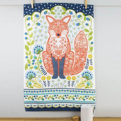 Woodland Fox Tea Towel