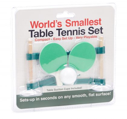 World's Smallest Table Tennis Set
