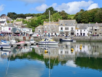 The fishing village of Padstow in Cornwall