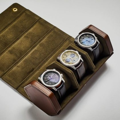 Bennett Winch Leather Watch Roll