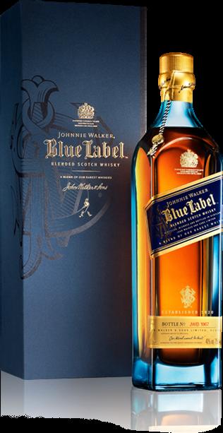 Personalized bottle of Johnnie Walker Blue